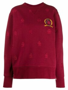 Tommy Hilfiger coat of arms jumper - Red