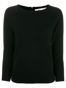 Diane von Furstenberg long-sleeve fitted sweater - Black