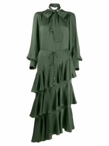 Zimmermann Espionage ruffled midi dress - Green