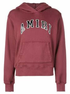 Amiri logo embroidered college hoodie