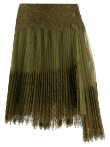 Ermanno Scervino pleated lace midi skirt - Green