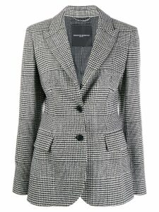 Ermanno Scervino slim-fit houndstooth blazer - White