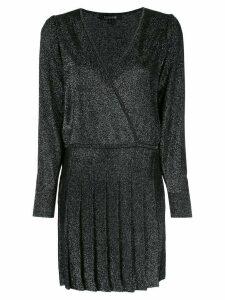 Cushnie v-neck wrap style dress - Black