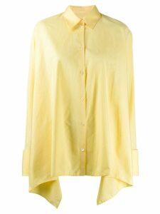 Maison Margiela asymmetric hem shirt - Yellow