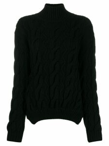 Simone Rocha cable knit sweater - Black