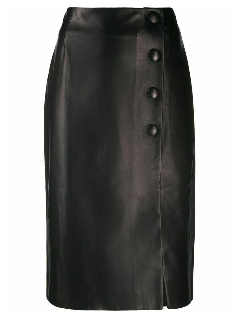 Drome button-up midi skirt - Black