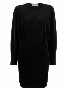 Iro velvet batwing dress - Black