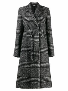 Karl Lagerfeld tailored check coat - Black