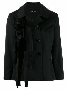 Simone Rocha ribbon trim jacket - Black