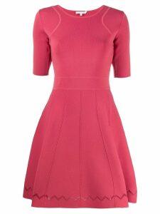 Patrizia Pepe flared shortsleeved dress - Pink