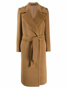 Tagliatore Molly belted coat - Brown