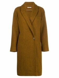 Dusan wrap front coat - Brown