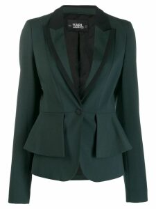 Karl Lagerfeld layered peplum blazer - Green