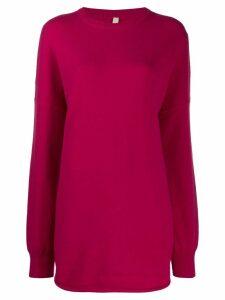Extreme Cashmere Nº53 longline jumper - Pink