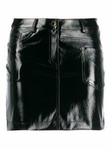 Patrizia Pepe textured mini skirt - Black