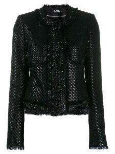 Karl Lagerfeld Karl's Treasure boucle jacket - Black