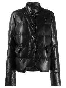Ermanno Scervino padded high neck jacket - Black