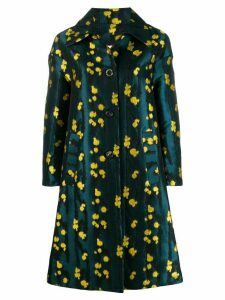 La Doublej boxy printed coat - Blue