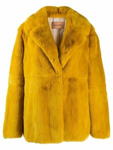 Yves Salomon single breasted coat - Yellow