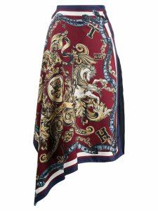 Tommy Hilfiger asymmetric crest print skirt - Blue