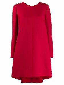 Valentino long-sleeved asymmetric mini dress - Red