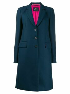 PS Paul Smith single breasted coat - Blue