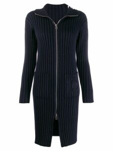 Chloé ribbed cardi-coat - Blue
