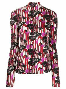 La Doublej printed turtleneck top - Red