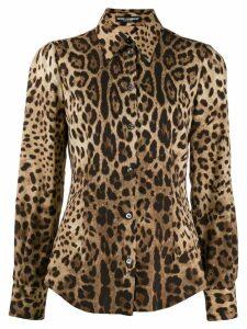 Dolce & Gabbana leopard print shirt - Neutrals