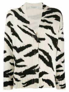Philosophy Di Lorenzo Serafini animal pattern wool cardigan - White