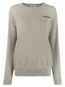 Brunello Cucinelli patch pocket top - Grey