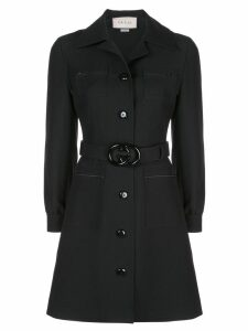 Gucci double G belted shirt dress - Black
