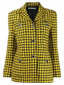 Alessandra Rich houndstooth print blazer - Yellow