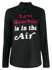 Love Moschino slogan print shirt - Black