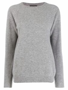 Roberto Collina long sleeve knit jumper - Grey