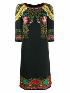 Etro printed shift dress - Black