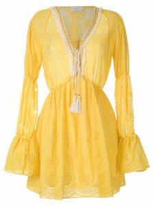 Brigitte long sleeved beach dress - Yellow