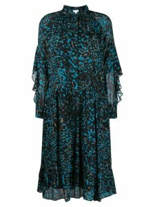 Lala Berlin animal print shirt dress - Blue