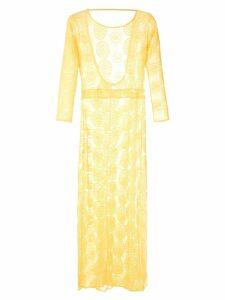 Brigitte sheer maxi dress - Yellow