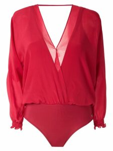 Brigitte silk bodysuit - Red