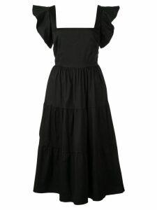 CALLIPYGIAN poplin tiered dress - Black