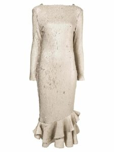 Rachel Gilbert Addie sequin fitted dress - Orange