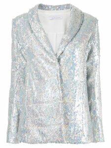 Rachel Gilbert Quincy sequin blazer - SILVER