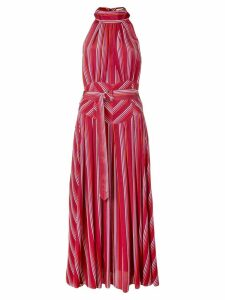 Diane von Furstenberg striped halterneck dress - Red