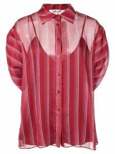 Diane von Furstenberg Beatriz crinkle short-sleeve shirt - Red