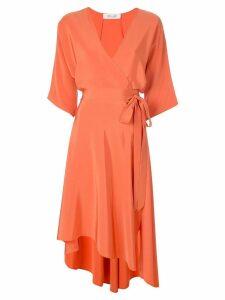 Diane von Furstenberg crepe de chine wrap dress - Orange