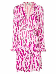 Diane von Furstenberg printed wrap dress - Pink