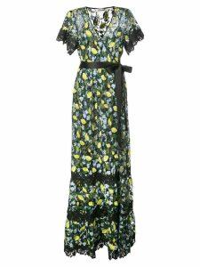 Diane von Furstenberg Victorious embroidered dress - Black