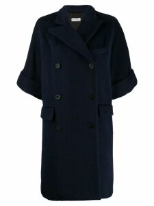 Alberto Biani double breasted coat - Blue