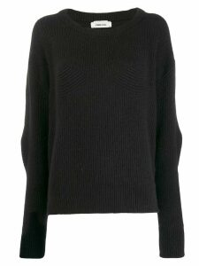 Circus Hotel ribbed knit jumper - Black